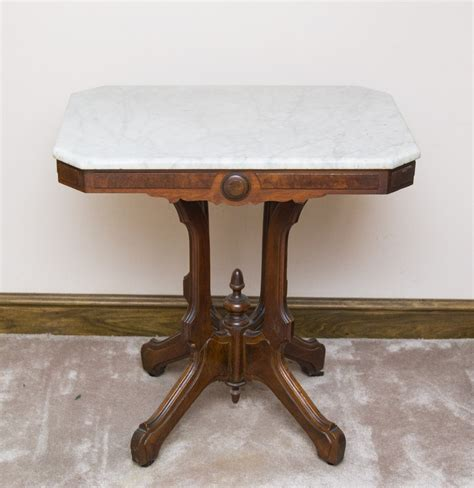antique marble top side table antique marble top parlor side table on casters ebth
