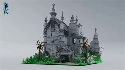 lego custom edward scissorhands castle youtube