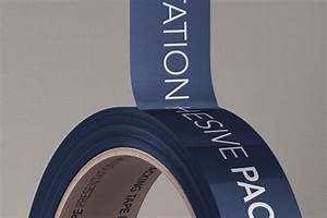 Branded Psd Packing Tape Mockup