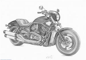 Motorcycle Art Drawings - `Vintage & Other Bikes`