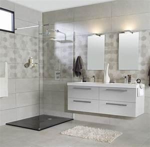 Grande Vasque Salle De Bain : grande salle de bain douche a l 39 italienne et double vasque salle de bain pinterest studio ~ Teatrodelosmanantiales.com Idées de Décoration