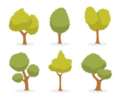 Cartoon Green Tree Vector Vector Art & Graphics