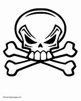 Coloring Skull Crossbones Pages Popular sketch template