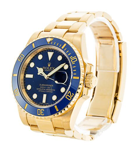 Rolex Submariner 116618LB Mens 40 MM Automatic Blue Watch ...