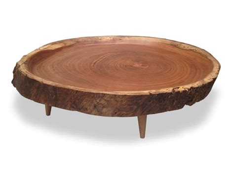 round wood coffee table rotsen victoria round wood slab coffee table round end