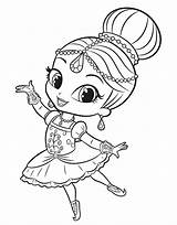 Shimmer Shine Coloring Kolorowanki Ballerina Ballet Printable Princess Sheets Little Ausmalbilder Scribblefun Samira Magical Leah Desenhos Pintar Lol Dibujos Colorir sketch template