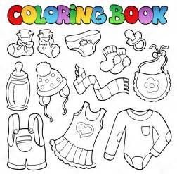 Baby Clothes Coloring Pages