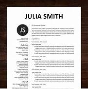 Resume CV Template Professional Resume Design For Word Mac Or PC Download Professional Resume Template Professional Human Resources Resume Samples Templates Professional Resume