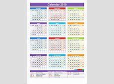 Free Download Printable Holiday 2019 Calendar UAE