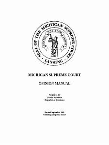 Michigan Supreme Court Opinion Manual