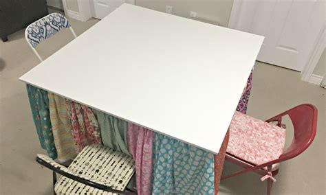 rolling craft table with storage diy rolling craft table with hidden storage heather 39 s