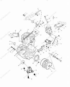 Polaris Atv 2001 Oem Parts Diagram For Engine Mounting
