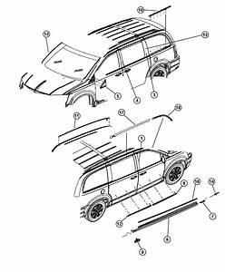 2015 Dodge Grand Caravan Applique  B Pillar  Left