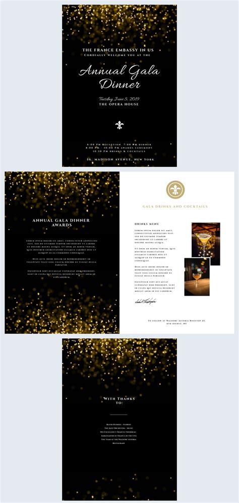 modern gala dinner program template flipsnack