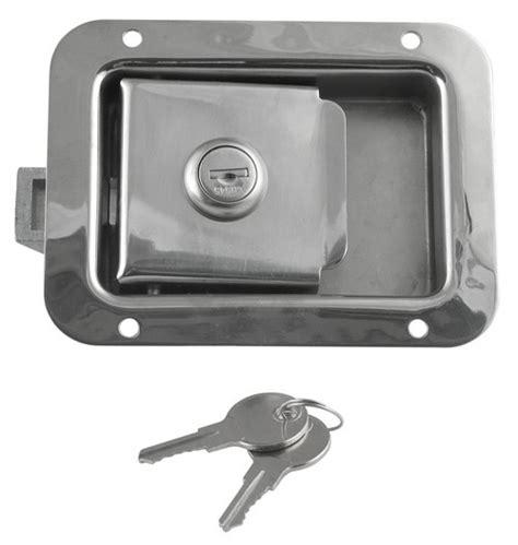 trailer door latch quot junior quot locking stainless steel flush door latch redline