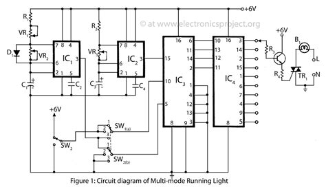 multi mode running light electronics project