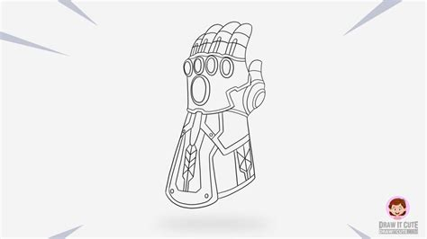 how to draw thanos infinity gauntlet step by step guide