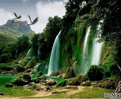 Places Gifs Nature Animation Waterfall Picmix Kinds