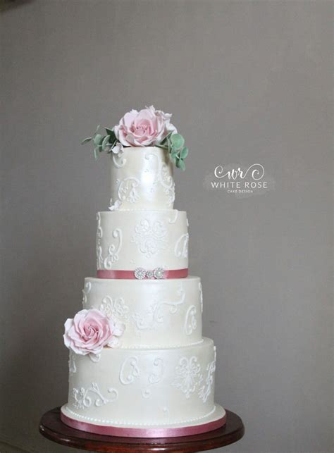 lace  roses archives white rose cake design