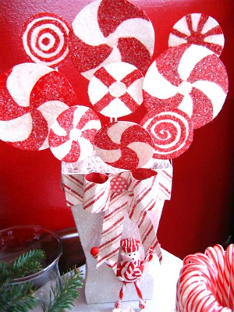 peppermint stripe christmas centerpiece hgtv