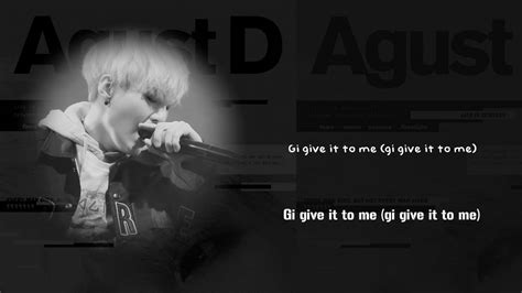 bts suga agust d give it to me lyrics han rom eng