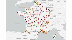 Carte Pollution Air : carte regardez l 39 volution de la qualit de l 39 air dans les villes fran aises depuis janvier 2015 ~ Medecine-chirurgie-esthetiques.com Avis de Voitures