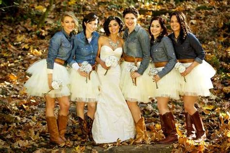 Love The Bridesmaids Dresses With Boots The Country Girl