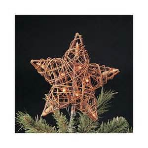 9 quot eco country natural brown rattan star christmas tree topper clear lights walmart com
