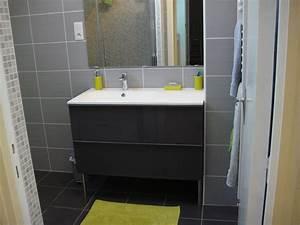 Meuble Salle De Bain Moderne : salle de bain moderne verte meuble salle de bain double ~ Nature-et-papiers.com Idées de Décoration