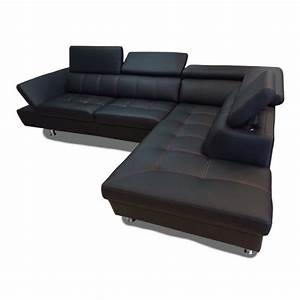 canape d39angle 5 places excellence simili cuir achat With canapé d angle 5 places simili cuir