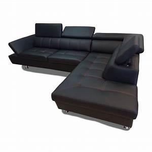 C Discount Canape : canap d 39 angle 5 places excellence simili cuir achat vente canap sofa divan cdiscount ~ Teatrodelosmanantiales.com Idées de Décoration