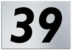 Number 39 Contemporary House Plaque Brusher Aluminium ...