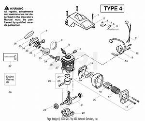 Poulan Pp220 Gas Chain Saw Type 4  220 Gas Chain Saw Type 4 Parts Diagram For Engine Type 4