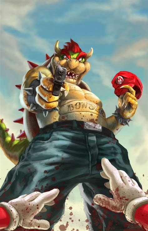 Gangster Bowser The Gamers Gallery Pinterest Bowser