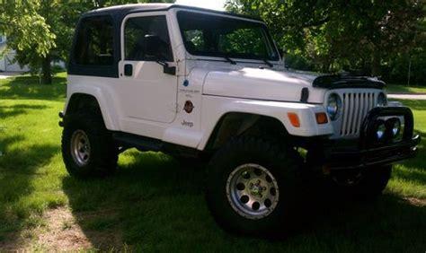 white jeep sahara lifted purchase used 1997 jeep wrangler sahara 4 0l automatic