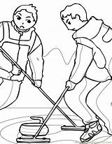 Curling Coloring Ink Pages Sports Winter Coloringpages101 sketch template