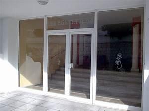 porte aluminium schuco de securite ventouse immeuble With porte de garage enroulable avec porte intérieure semi vitrée