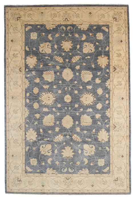 6x9 Wool Rug by Oushak Wool Area Rug Blue 6x9 Traditional Area Rugs