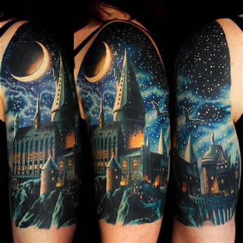 hogwarts school tattoo  tattoo design ideas