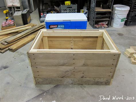rustic wood cooler plans  woodworking