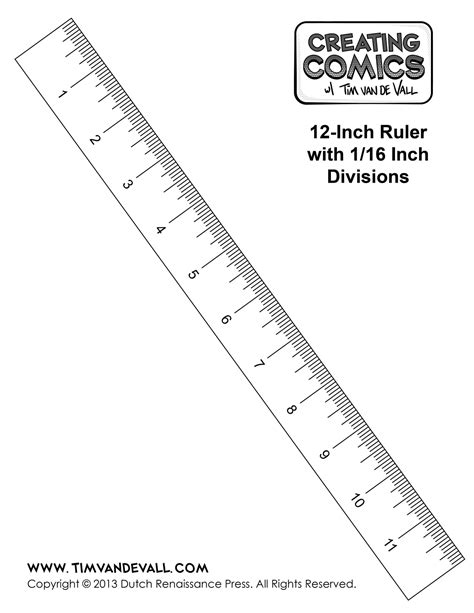 ruler template printable ruler template in inches creating comics