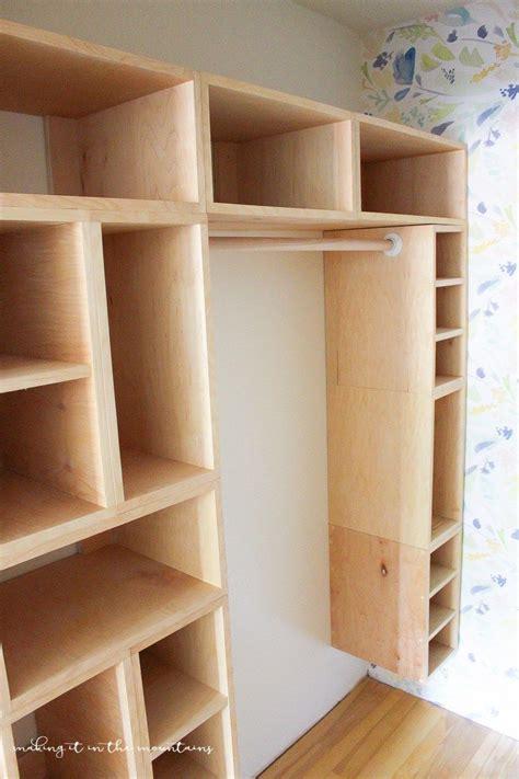Build Closet Organizer by Diy Custom Closet Organizer The Brilliant Box System