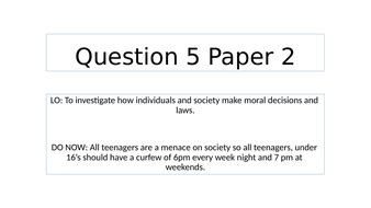 Aqa english language paper 2. AQA language paper 2 question 5   Teaching Resources