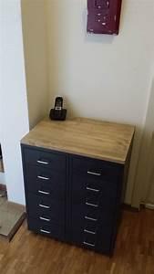Buffet Industriel Ikea : meuble industriel avec caissons helmer ikea hack woods and salons ~ Teatrodelosmanantiales.com Idées de Décoration