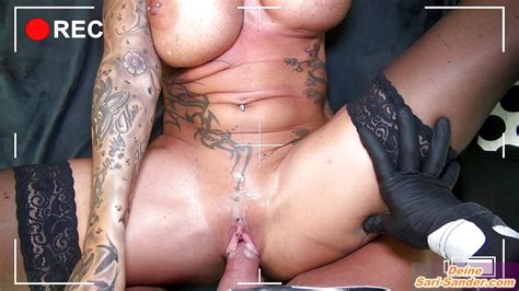German Big Tits Tattoo Milf Fucks With Creampie Voyeur
