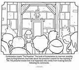 Coloring Ecclesiastes Bible Whatsinthebible Wise Solomon King Sheets Activity Preacher sketch template
