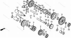 Honda Atv 1984 Oem Parts Diagram For Sub Transmission