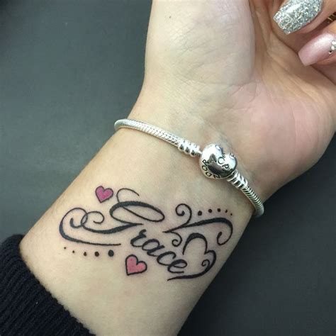 Grace. Tattoo. Wrist. Daughter. | Tattoos | Pinterest | Beautiful, Grandmothers and For women