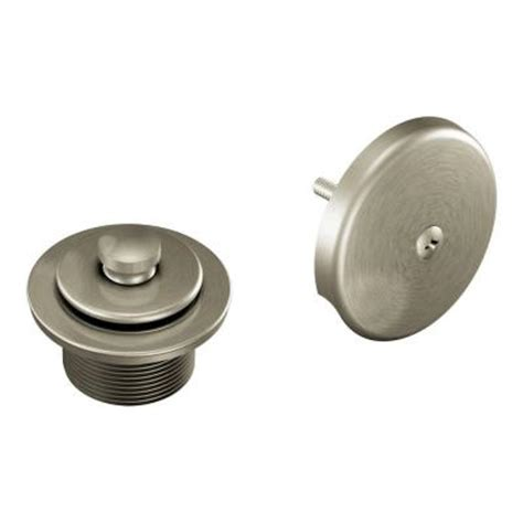 home depot bathtub drain moen tub shower drain covers in brushed nickel t90331bn