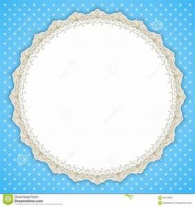Retro Round Lace Frame Stock Vector - Image: 59154816